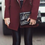 bordo-Bu Kışın Palto ve Kaban Kombinleri