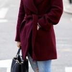 bordo2-Bu Kışın Palto ve Kaban Kombinleri