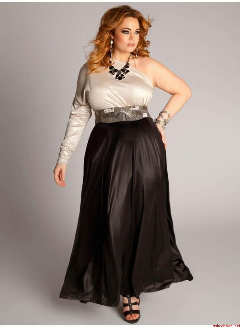 2017 Büyük Beden Abiye Elbise Modelleri Şık ve Zarif