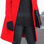kırmızı-Bu Kışın Palto ve Kaban Kombinleri