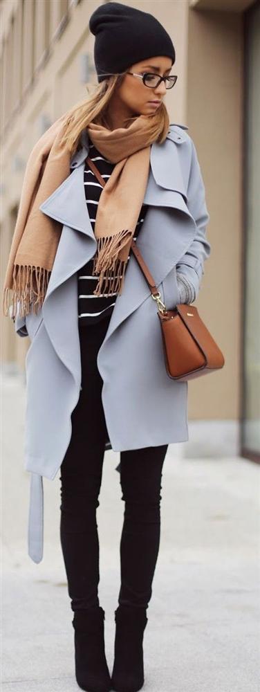 mavi-Bu Kışın Palto ve  Kaban Kombinleri