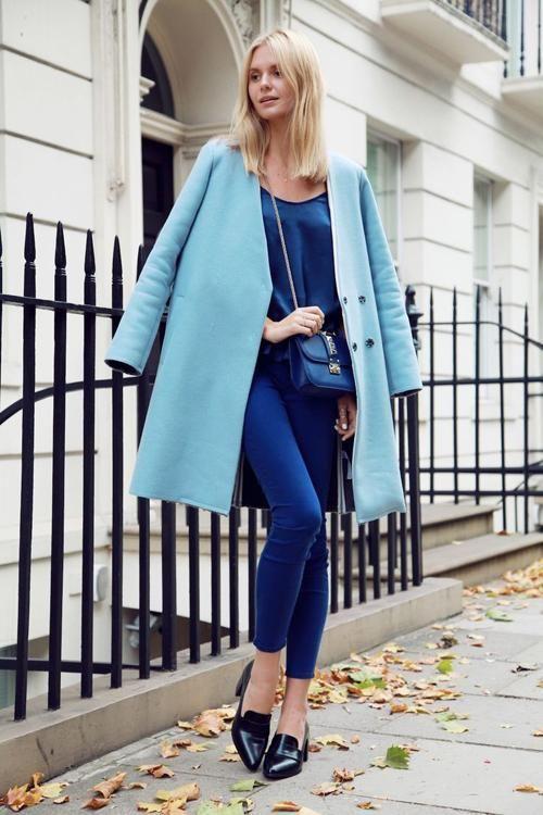 mavi2-Bu Kışın Palto ve  Kaban Kombinleri