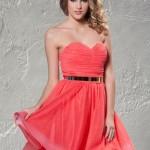 Mini pembe nişan elbisesi
