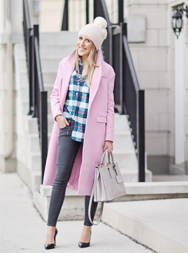 pembe2-Bu Kışın Palto ve  Kaban Kombinleri