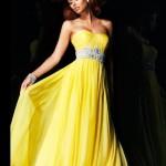 sari_abiyeler_Taş detaylı sarı nişan elbisesi
