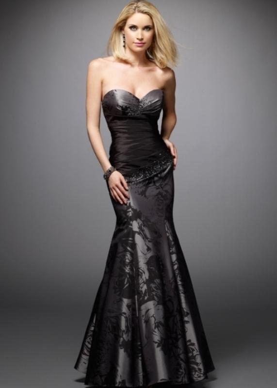 Balık etek siyah nişan elbisesi