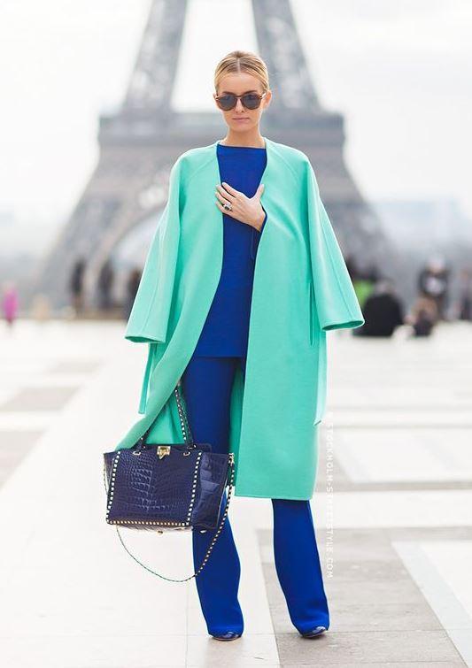 yeşil-Bu Kışın Palto ve  Kaban Kombinleri