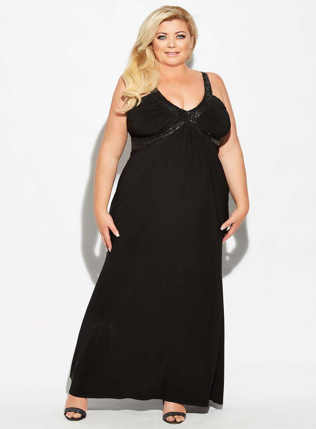 Büyük Beden Uzun Abiye Elbise Modelleri - Gece Elbiseleri - plus size dresses (12)
