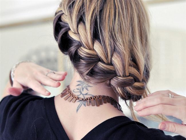 Birbirinden Şık ve Güzel Örgü Saç Modelleri (18)