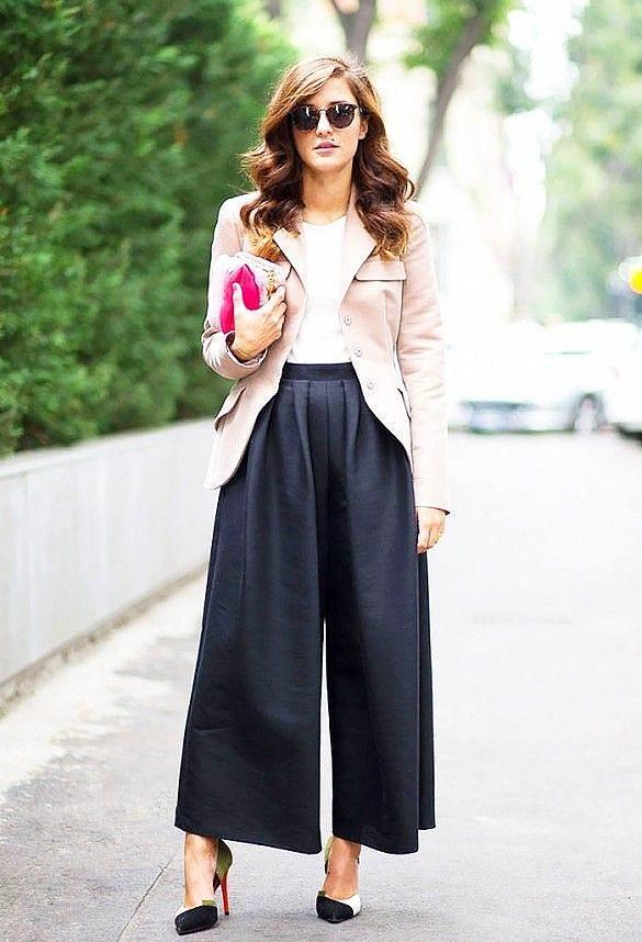 Bol Pantolonlar-2017 Sokak Modası Trendleri