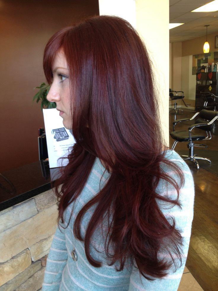 Dark Red Hair Color-koyu kırmızı ve kızıl saç renkleri (26)