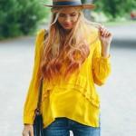 Fırfırlı Gömlekler - 2017 Sokak Modası Trendleri