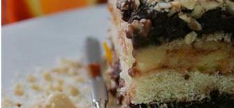 Nefis Tarifler;Portakallı ve Çikolatalı Kedidili Pastası Yapılışı