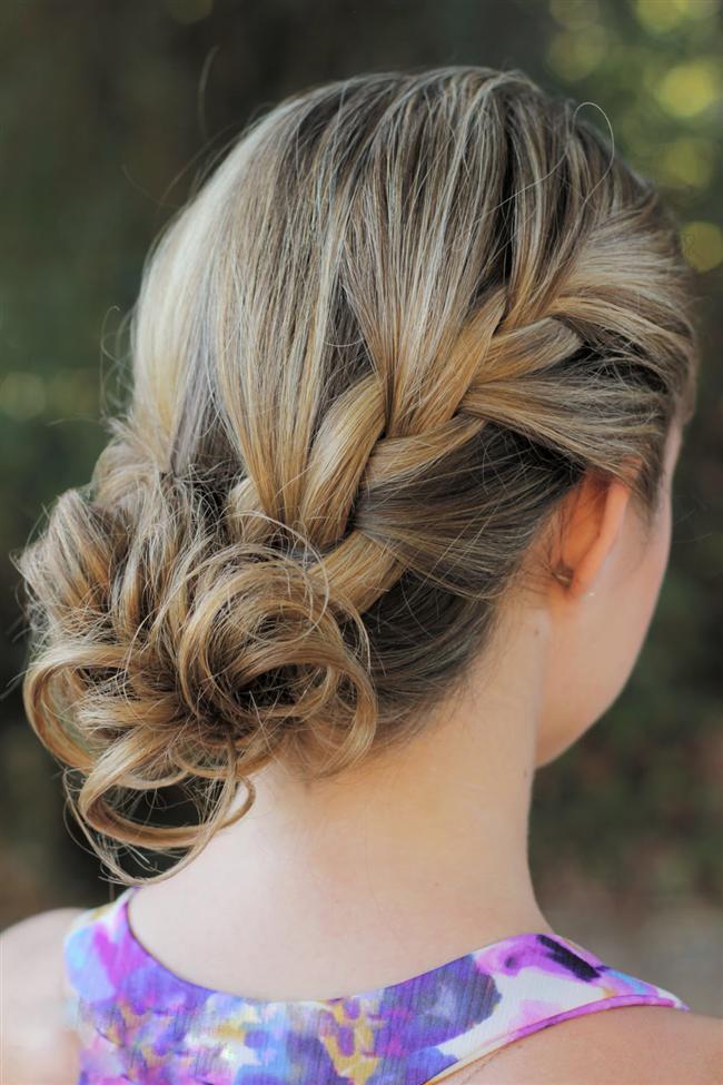Mükemmel Dağınık Topuz Saç Modelleri-Gelin Saçı (2)