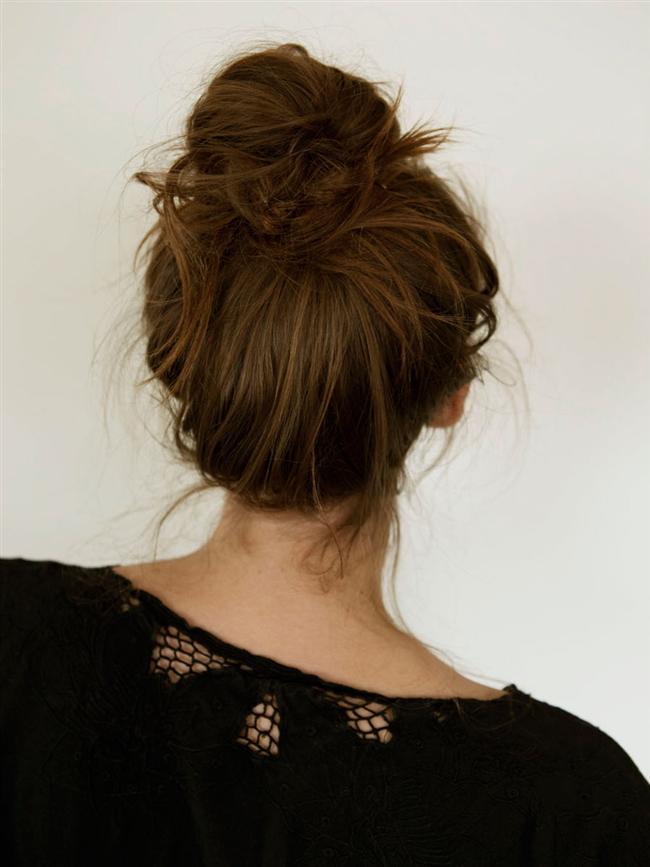 Mükemmel Dağınık Topuz Saç Modelleri