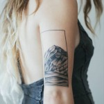 Pinteres'in En Güzel 25 Dövme Modeli - Tatto- The 40 most beautiful tattoos Pinterest-Idee-tatouage-un-paysage-en-noir-et-blanc
