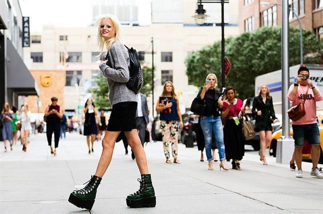 Platform Topuklar - 2017 Sokak Modası Trendleri