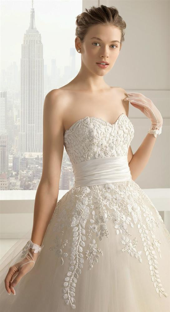 Straplez Prenses Gelinlik Modelleri - Best Strapless Wedding Dresses (31)