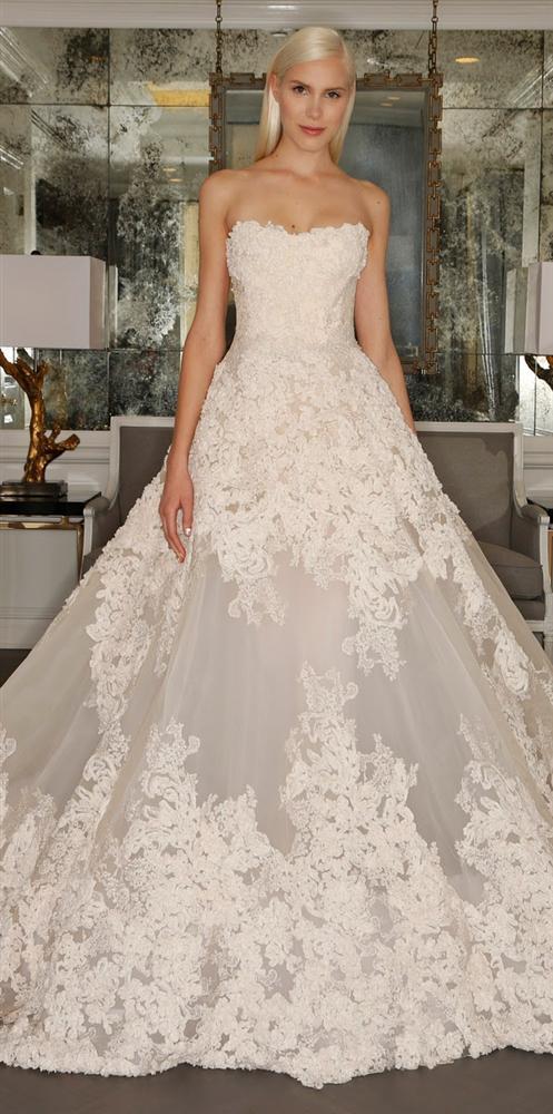 Straplez Prenses Gelinlik Modelleri - Best Strapless Wedding Dresses (36)