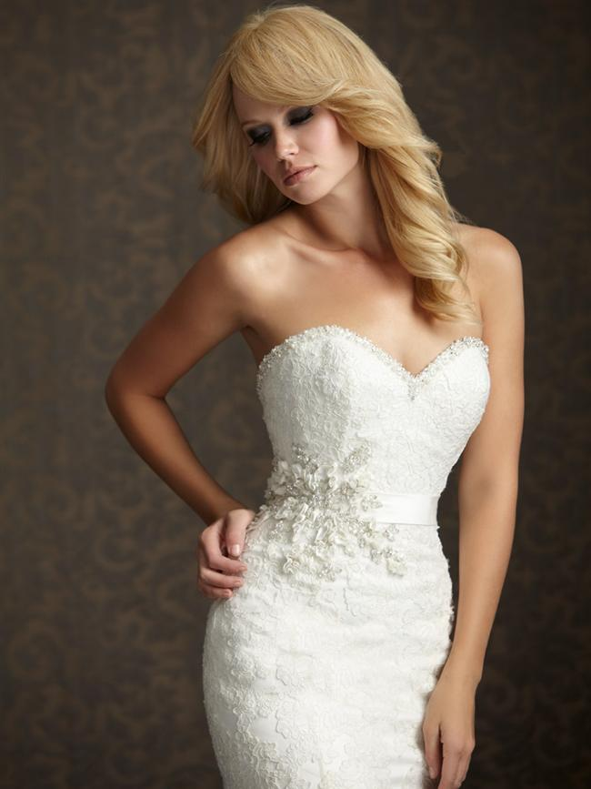 Straplez Prenses Gelinlik Modelleri - Best Strapless Wedding Dresses (37)