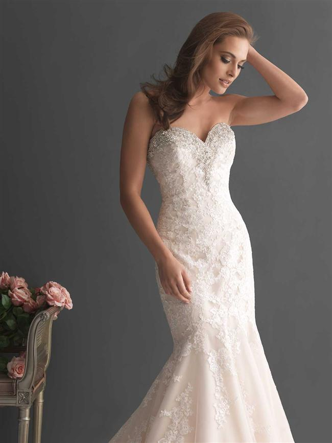 Straplez Prenses Gelinlik Modelleri - Best Strapless Wedding Dresses (38)