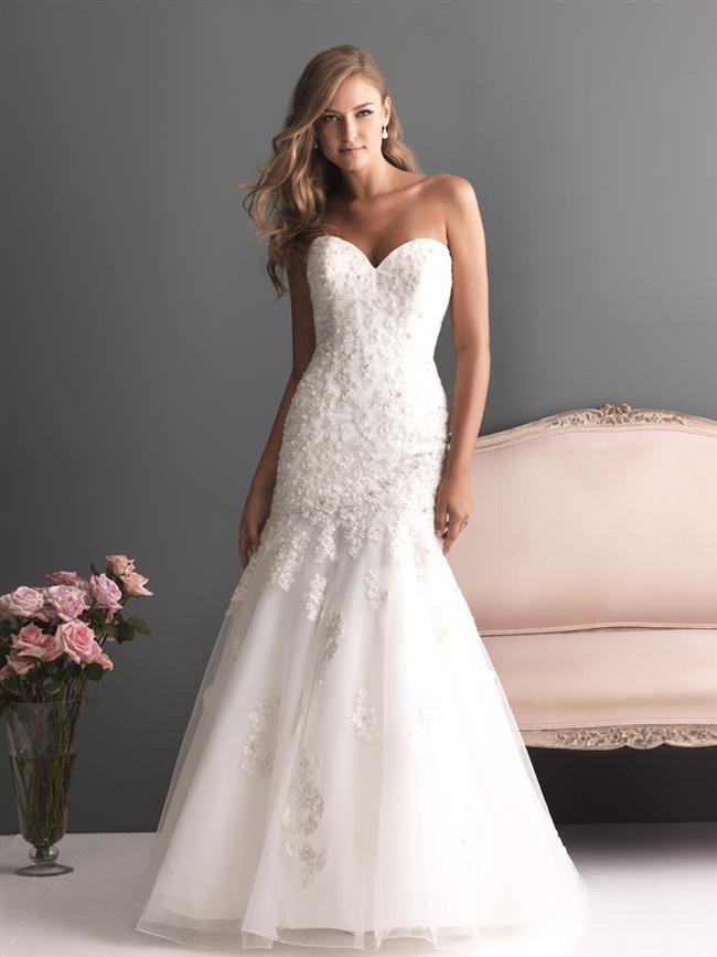 Straplez Prenses Gelinlik Modelleri - Best Strapless Wedding Dresses (39)