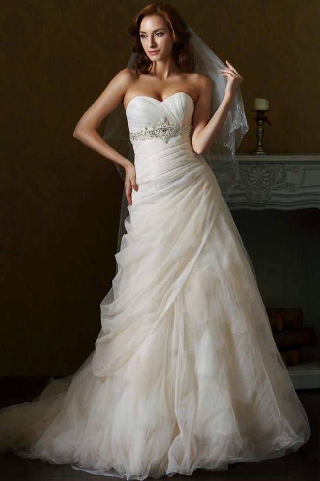 Straplez Prenses Gelinlik Modelleri - Best Strapless Wedding Dresses (41)