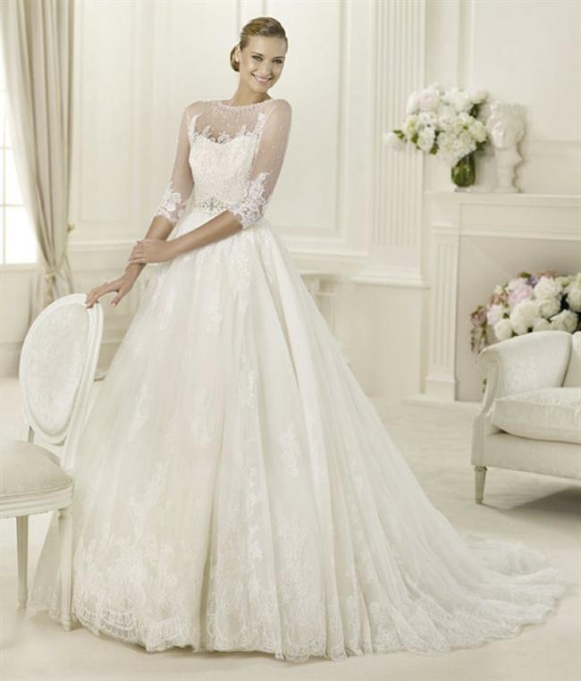Straplez Prenses Gelinlik Modelleri - Best Strapless Wedding Dresses (45)