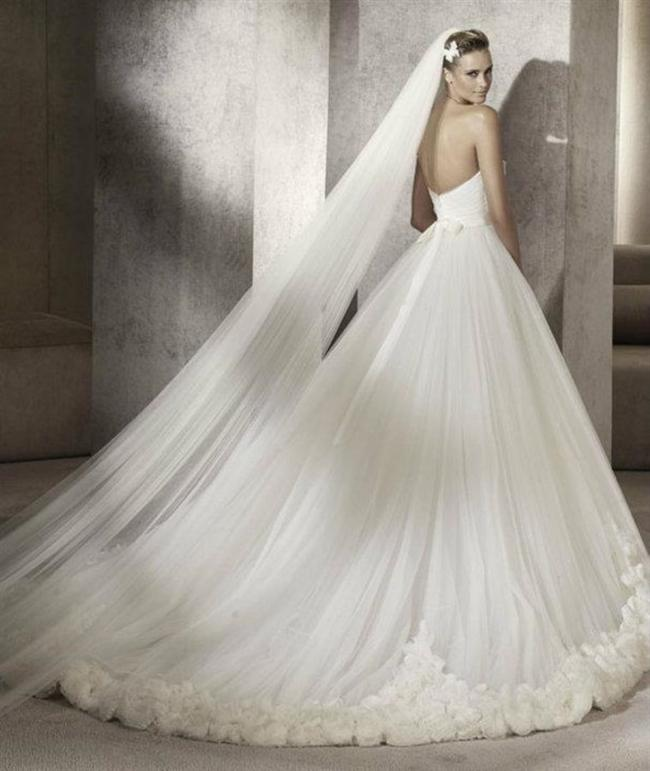 Straplez Prenses Gelinlik Modelleri - Best Strapless Wedding Dresses (47)