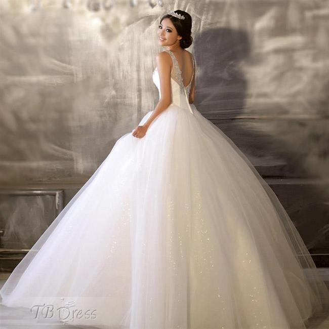 Straplez Prenses Gelinlik Modelleri - Best Strapless Wedding Dresses (49)
