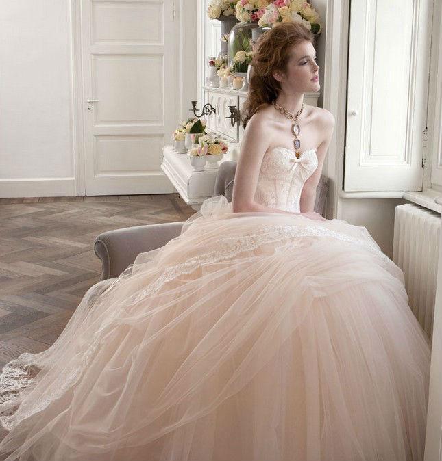 Straplez Prenses Gelinlik Modelleri - Best Strapless Wedding Dresses (50)