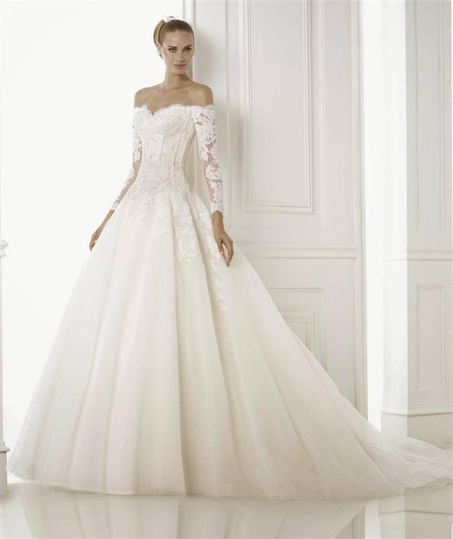 Straplez Prenses Gelinlik Modelleri - Best Strapless Wedding Dresses (53)