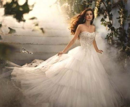 Straplez Prenses Gelinlik Modelleri - Best Strapless Wedding Dresses (55)