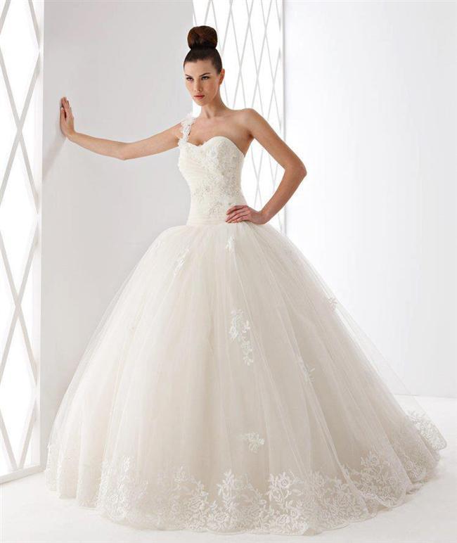 Straplez Prenses Gelinlik Modelleri - Best Strapless Wedding Dresses (63)
