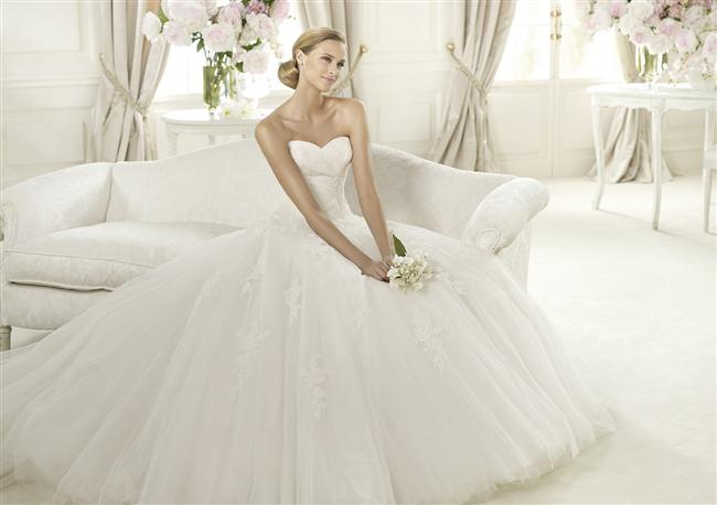 Straplez Prenses Gelinlik Modelleri - Best Strapless Wedding Dresses (64)