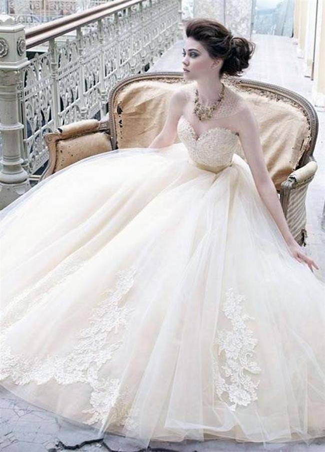Straplez Prenses Gelinlik Modelleri - Best Strapless Wedding Dresses (65)