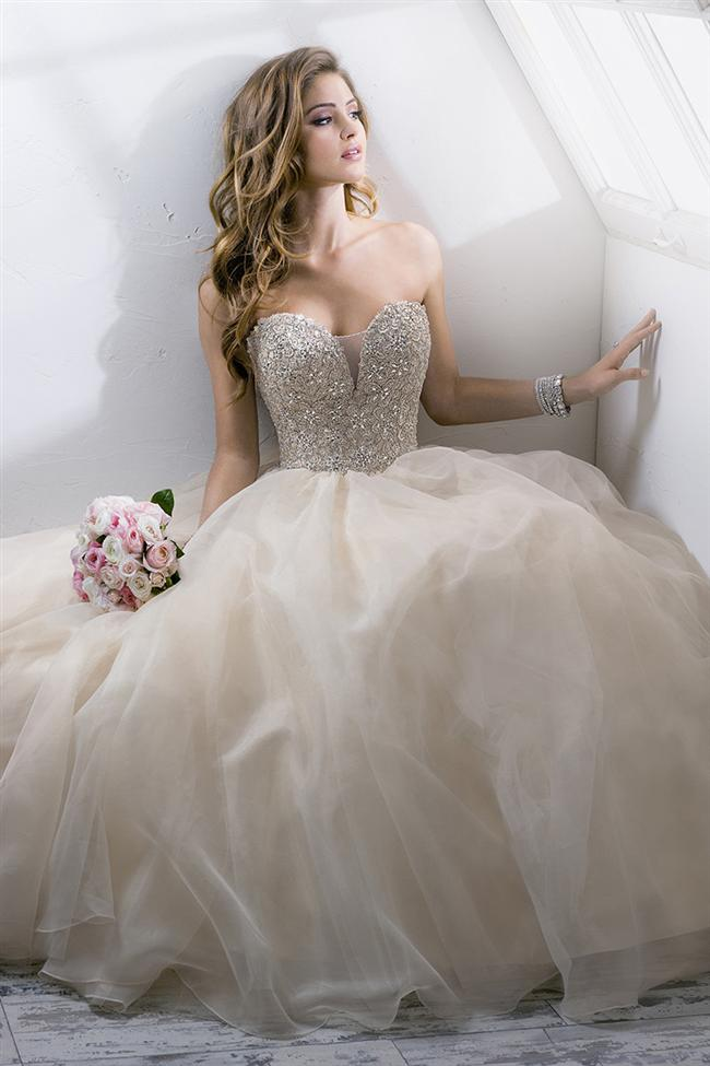 Straplez Prenses Gelinlik Modelleri - Best Strapless Wedding Dresses (66)