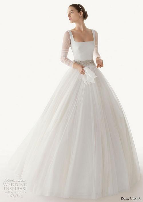Straplez Prenses Gelinlik Modelleri - Best Strapless Wedding Dresses (67)