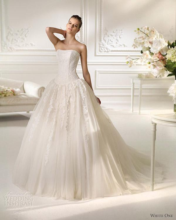 Straplez Prenses Gelinlik Modelleri - Best Strapless Wedding Dresses (70)