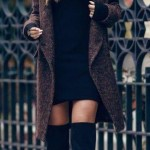 En Seksi Kışlık Elbise  Kombinleri (22)
