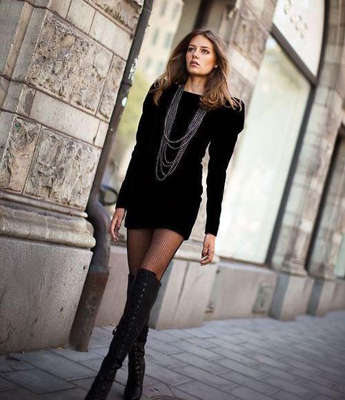 En Seksi Kışlık Elbise  Kombinleri (7)