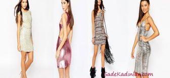 Gece Elbise Modelleri Muhteşem Mini Payetli Elbiseler