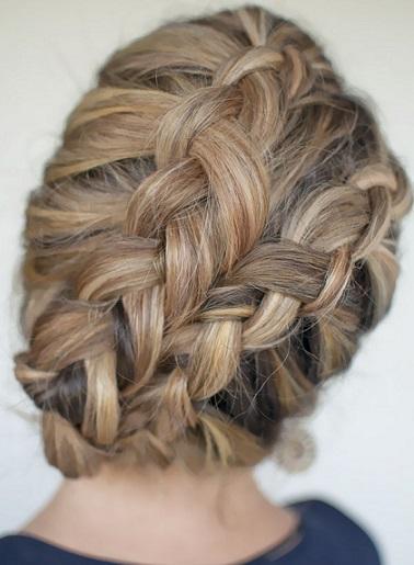 Gelinler İçin Örgülü Saç Modelleri (4)