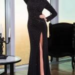Siyah Uzun Abiye Modelleri  Gece Elbiseleri (1)