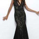 Siyah Uzun Abiye Modelleri  Gece Elbiseleri (10)