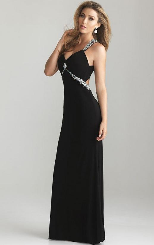 Siyah Uzun Abiye Modelleri  Gece Elbiseleri (28)