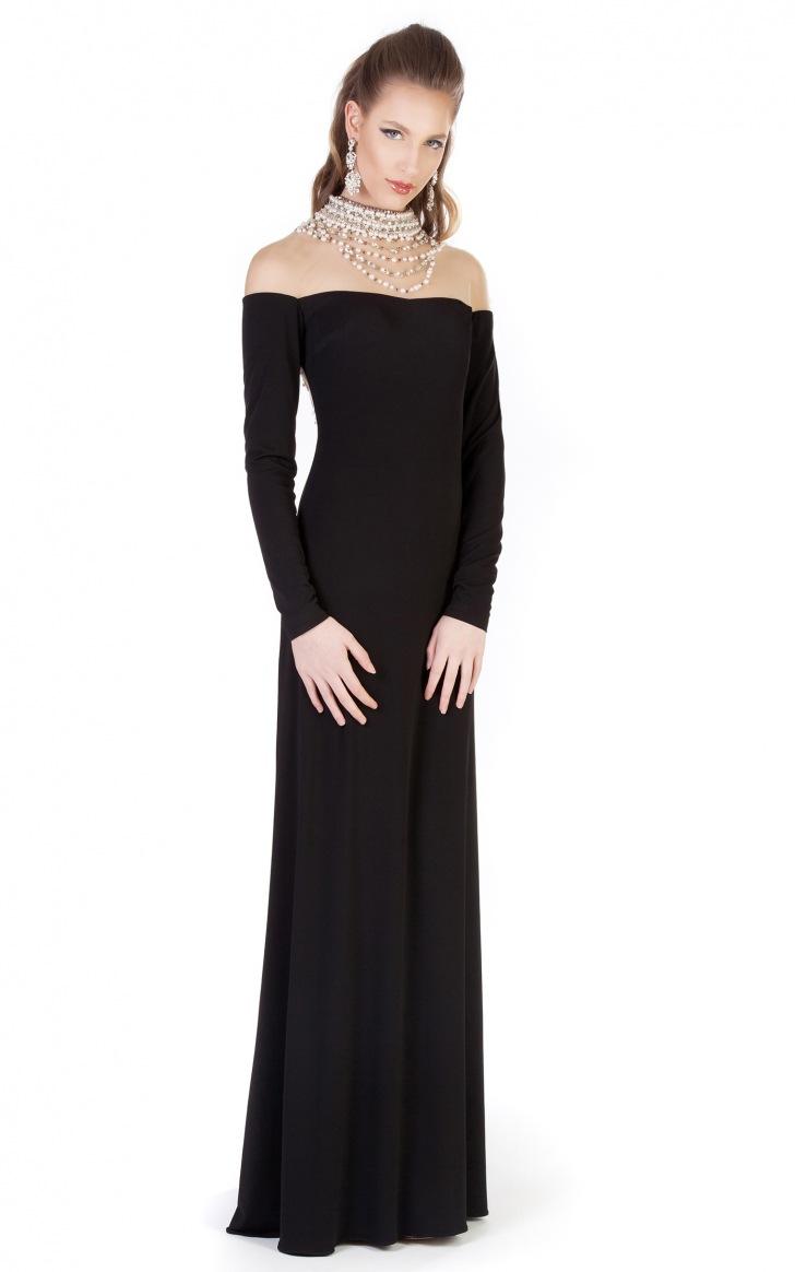 Siyah Uzun Abiye Modelleri  Gece Elbiseleri (30)