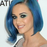 Smooth square blue hair color Katy Perry