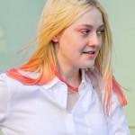 The pink spikes of Dakota Fanning