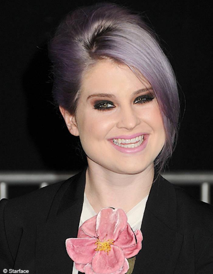 The purple-hair-to-Kelly Osbourne